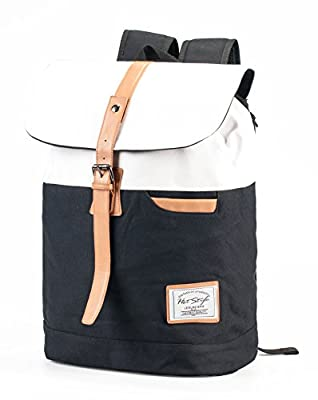 Hotstyle 902s Classic Canvas Vintage Fashion Unisex Rucksack Laptop Backpack Daypack Shoulder Bag Pack (24L) For School Camping Travel Fits Acer Aspire, MacBook, Chromebook, iPad