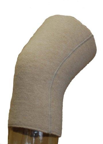 Angora Kniewärmer von wobera, schwere Ausführung 50% Angora (large, beige), Lieferung paarweise