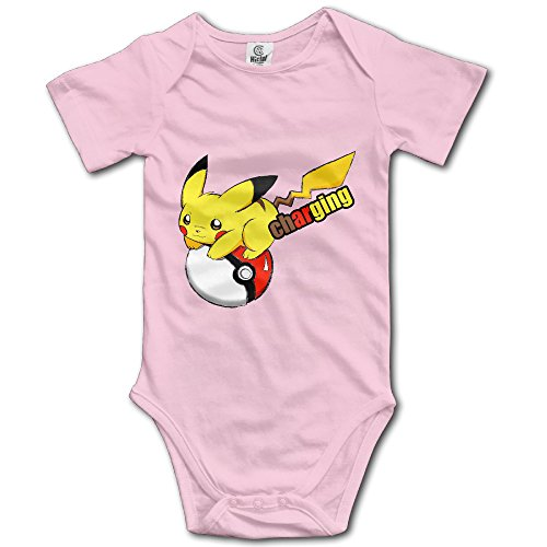 Price comparison product image Pikachu On Pokemon Ball Charging Custom Baby Unisex Jumpsuits Organic Cotton Fashion