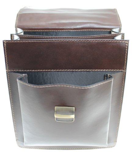 CTM Tasche mit Schulterriemen 27x32x10cm Herren Echtes Leder