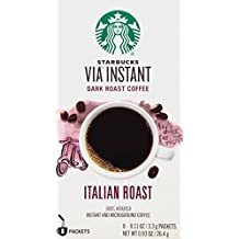 Starbucks VIA Instant Coffee, Italian Roast, 8 count  (Pack of 12)