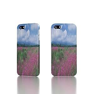 Apple iPhone 4 / 4S Case - The Best 3D Full Wrap iPhone Case - blue Dream floral