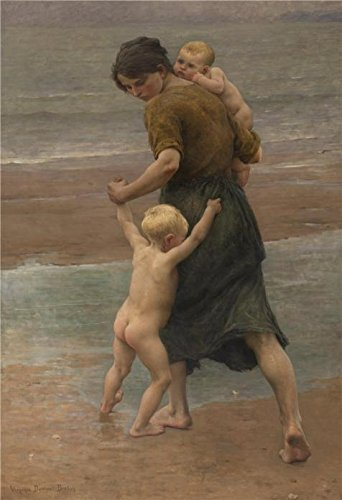 Lilly And Marshall Halloween Costume (Oil Painting 'Virginie Elodie Demont Breton,Into The Water,ca.1898' Printing On High Quality Polyster Canvas , 30x44 Inch / 76x111 Cm ,the Best Dining Room Artwork And Home Decoration And Gifts Is This High Resolution Art Decorative Canvas Prints)