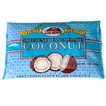 (Log House Premium Quality Sweetened Fancy Flake Coconut (Pack of 2) )
