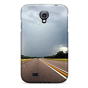 Tpu Case Cover For Galaxy S4 Strong Protect Case - Road South Africa Design