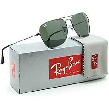00128a4499 Amazon.com  Ray-Ban CARAVAN - ARISTA Frame CRYSTAL GREEN Lenses 58mm ...