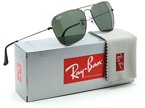 Ray-Ban RB3136 Caravan Unisex Sunglasses Green Classic 004 - - Aviator Case Rayban