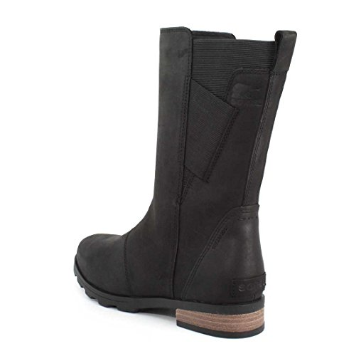 Sorel Womens Emelie Mid Boots, Black, 6 B(M) US
