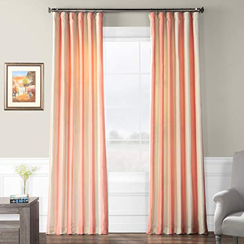 (Half Price Drapes PTSCH-11091-96 Faux Silk Taffeta Stripe Curtain, Annabelle)