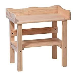 Mesa de juegos de mesa infantil madera maciza Interior Exterior Jardín de Gartenpirat®