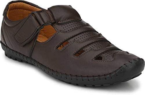 Martin Scott Men's PU Outdoor Hook & Loop Roman Sandals