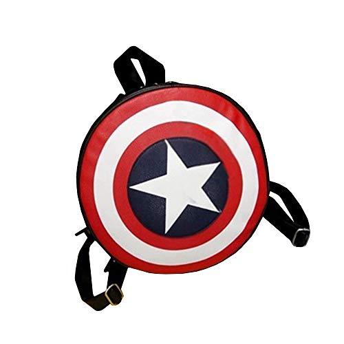 KunLunMen Womens Mens Boys Girls Backpack Captain America Shield PU Leather School Bag -