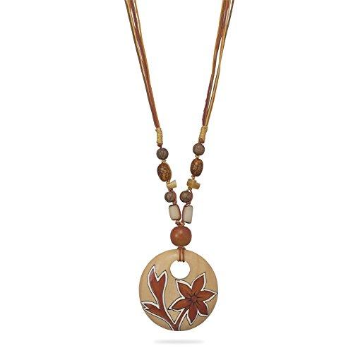 Multicord Buri Seed Wood Bead Fashion Necklace (Buri Seed)