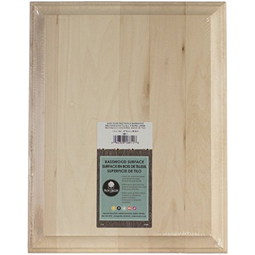 "Walnut Hollow 11"" x 14"" Wide Edge Basswood Rectangle (452531)"