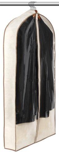 Smart Design Canvas Gusseted Suit Garment Bag w/ Cedar & Zipper - VentilAir Mesh Material - for Suits, Coats,...