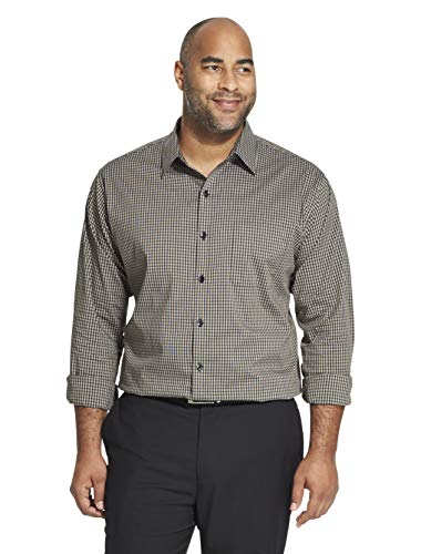 Van Heusen Men's Big and Tall Traveler Stretch Long Sleeve Button Down Blue/White/Purple Shirt, Ultramarine, 3X-Large ()