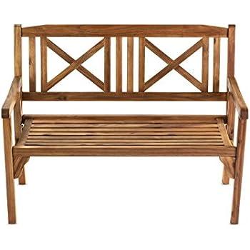 Pleasing Amazon Com Pine Wood Chippendale Bench Natural Garden Lamtechconsult Wood Chair Design Ideas Lamtechconsultcom