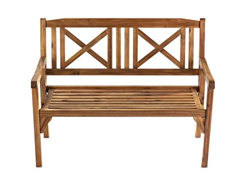 Sunset Garden SG55 | Bayon Outdoor Folding Bench | Real Wood, ()