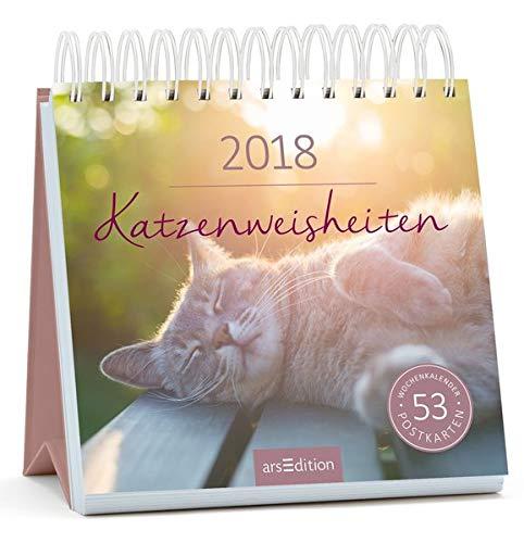 Katzenweisheiten 2018: Postkartenkalender