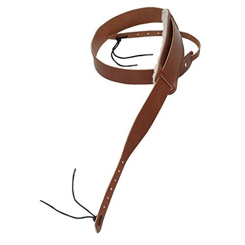 - Levy's Leathers PM13-WAL Veg-Tan Leather Banjo Strap with Sheepskin, Walnut
