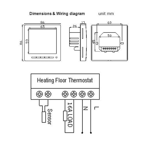 elektrische fu bodenheizung thermostat anschlie en pd64 hitoiro. Black Bedroom Furniture Sets. Home Design Ideas