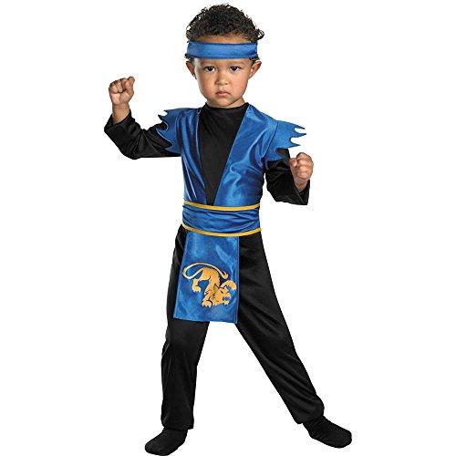 Blue Ninja Costume Toddler (Midnight Ninja Costume (M (3T-4T)))