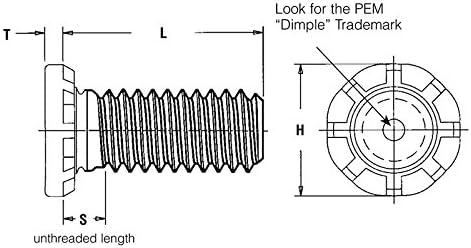 HFHS-M8-30 Metric Pem Self-Clinching High-Strength Studs Type HFH//HFHS//HFHB