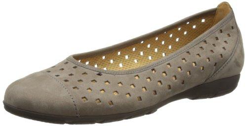 Gabor Shoes Gabor 64.169.13 - Bailarinas de cuero para mujer Gris (Grau (Fumo))
