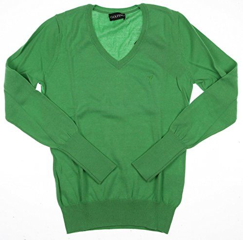 new-womens-golfino-stretch-luxury-knit-sweater-x-small-xs-green