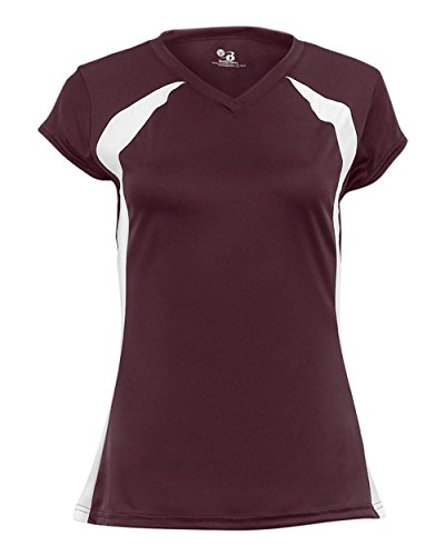 Ladies Maroon/White Two-Color XL Performance Sports Wicking ()