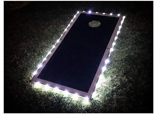 321 Lights Set of 2 Cornhole Board Edge Lights Waterproof Lights with 5 Colors Options Last 100+ Hours on 3 AA Batteries(not Included)