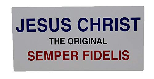 ALBATROS (6 Pack) Jesus Christ The Original Semper Fidelis Decal Bumper Sticker for Home and Parades, Official Party, All Weather Indoors Outdoors