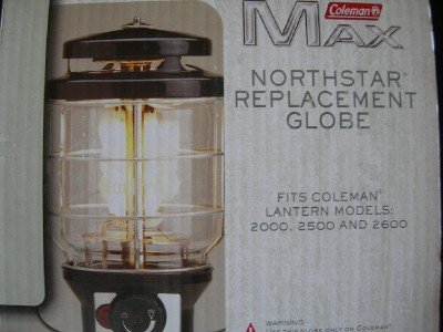 Coleman Max Northstar Lantern Globe Fits Models 2000, 2500, 2600 by NorthStar