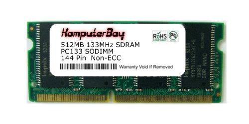 Pc133 Sodimm Compaq Notebook Ram - KOMPUTERBAY 512MB SDRAM SODIMM (144 Pin) LD 133Mhz PC133 FOR Hewlett Packard/Compaq Pavilion Notebook zt1132s 512MB