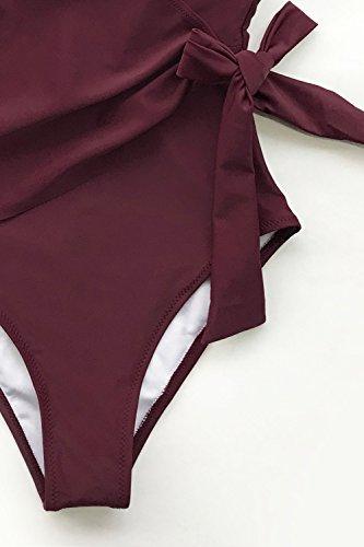 78d3bb8532 CUPSHE Women s Elegant Dance Solid One-Piece Swimsuit Beach Swimwear  Bathing Suit