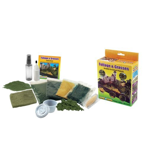Woodland Scenics SP4120 Foliage and Grasses Diorama Kit