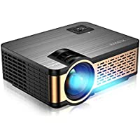 XIAOYA Mini Projector HD 720P with HiFi Speaker, 4000 Lumens Movie Projector Support 1080P Home Theater Projector…