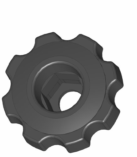 Innovative Components ANH7-HEXF6 2.38'' Snap Lock Fluted Knob hex hole to accept 1/2 nuts and bolts, black pp (Pack of 10)