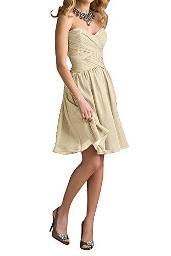 La Lila Mini Rock Einfach Cocktailkleider Braut Beige Chiffon Dunkel Marie Brautjungfernkleider Abendkleider Cqqgt4