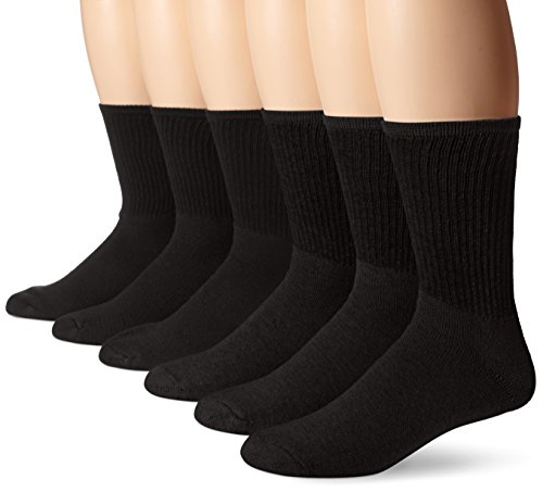 - Dickies Men's All Purpose Cushion Crew Socks (6/12 Packs), Black (6 Pair), Shoe Size: 6-12