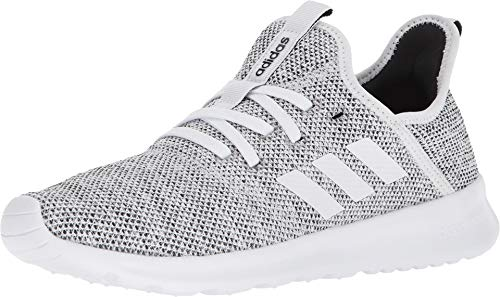 adidas Performance Women's Cloudfoam Pure Running Shoe, White/White/Black, 9.5 M US (Best Shoes To Wear With Black Leggings)