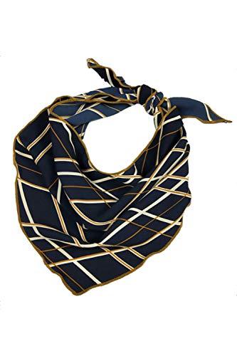 Pattern Triangle Scarf - Women Scarf Fashion Pattern Silk Like Triangle Satin Headscarf 4 One Size