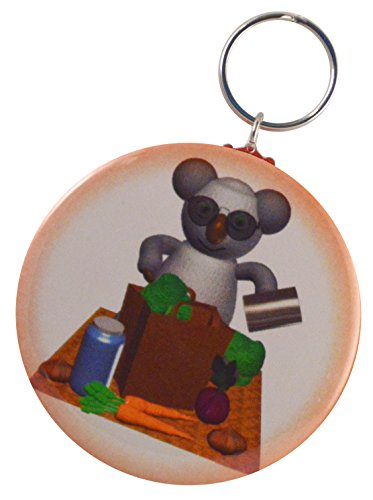 Bagger Side - Funny Koala Brown Bagger Two-Side Keychain + Magnet