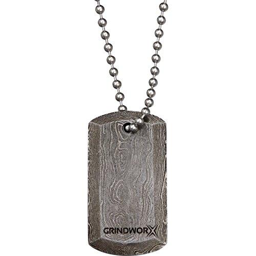 Grindworx Grindworx Grindworx Damaskus Steel Dog Tag Damast 67dd79