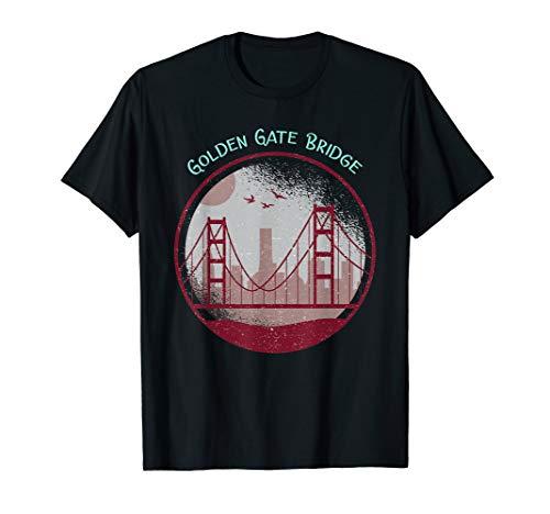 Skyline San Francisco t-shirt, California Golden gate bridge ()