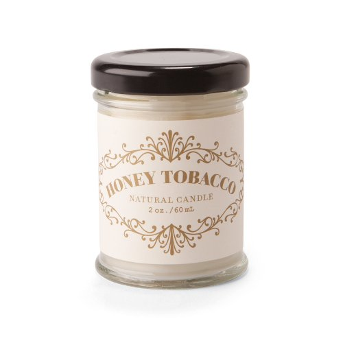 Rosy Rings Apothecary Jar Candle, 2-Ounce, Honey Tobacco