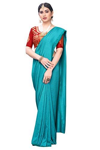Manikarnika Sarees Women's Solid Tussar silk Saree With Blouse Piece