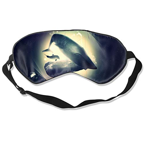 Oh-HiH 100% Silk Eye Mask Animals Dolphins Space Sleeping Blindfold Blocks Light Eye -