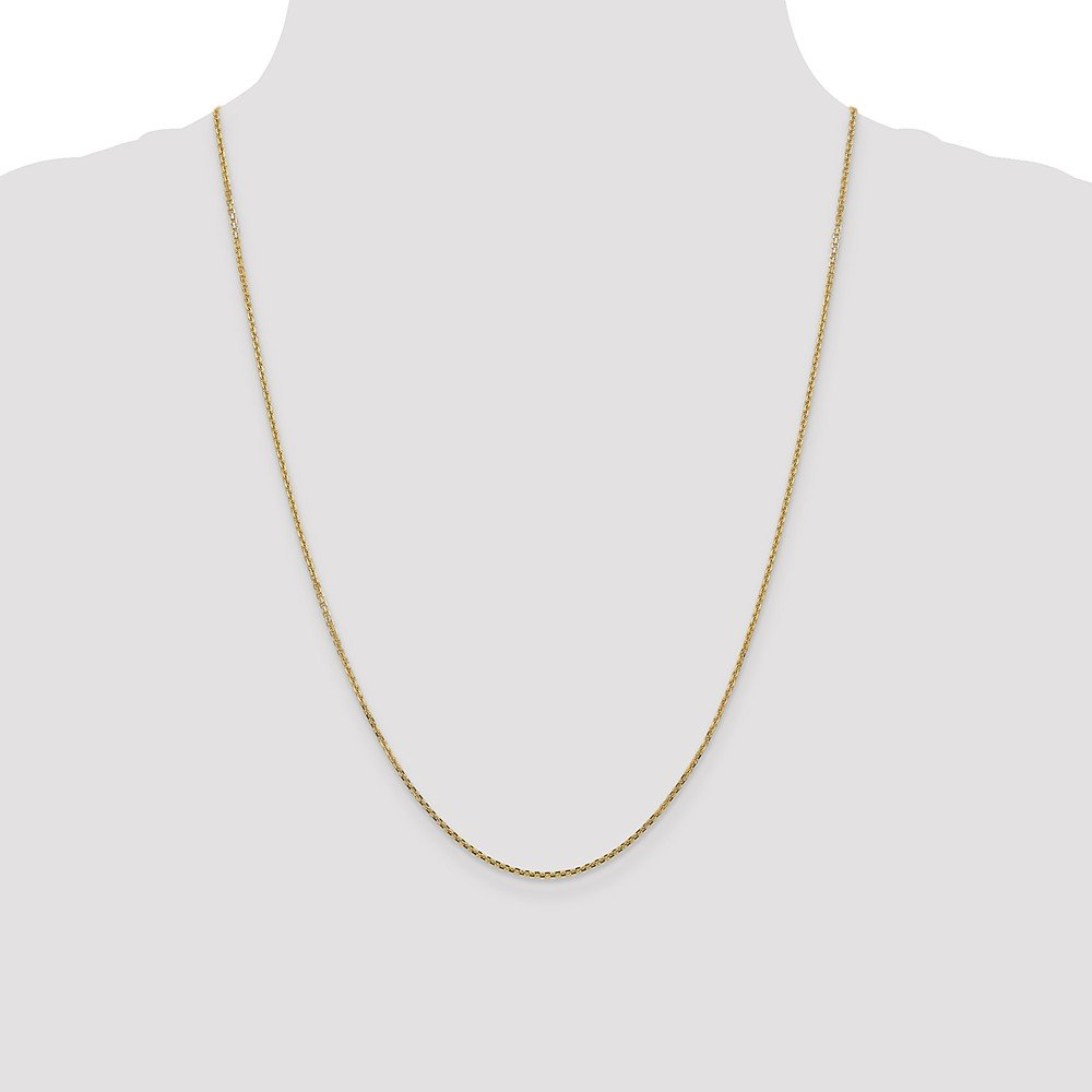 14k Yellow Gold 1.45mm Cable Chain Necklace 3.84g