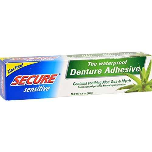 SECURE Sensitive Denture Adhesive - 1.4 oz (Pack of 2)